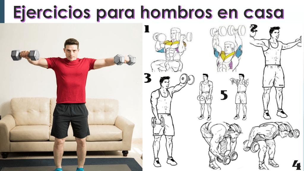 ejercicios para hombros en casa