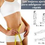 10 ejercicios para adelgazar en casa